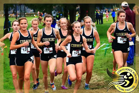 Corning Cross Country Girls Team at Marathon Invitational