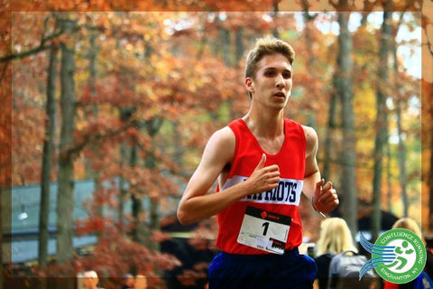 Noah Farrelly at Section IV Cross Country Championships