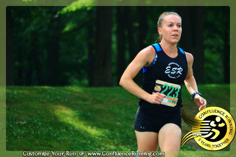 Samantha Sneed of ESR Endurance Racing doing the Parlor City 5k in JulyFest Binghamton