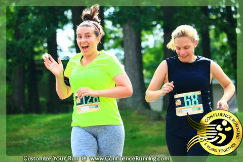 Excited Runner during the Parlor City 5k in JulyFest Binghamton