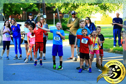 Kids Cheering during the Owego Strawberry Festival Strawberry Shake 5k
