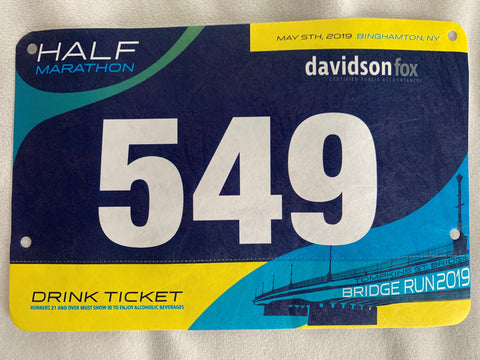 Tim Strong's Binghamton Bridge Run Half Marathon Bib