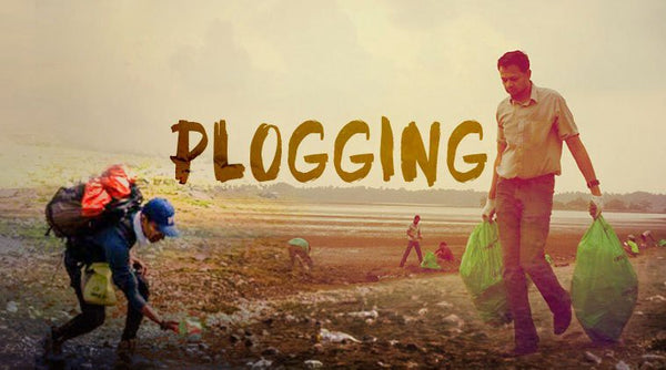 Plogging: Running & Picking up trash & garbage for the environment on earth day