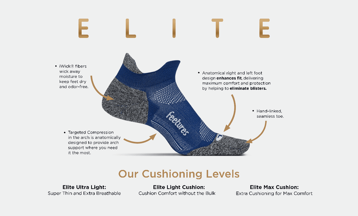 Elite Light Cushion | No Show | Feetures!