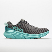 Hoka Rincon Women's running shoe Charcoal Grey/Aqua Sky color side view