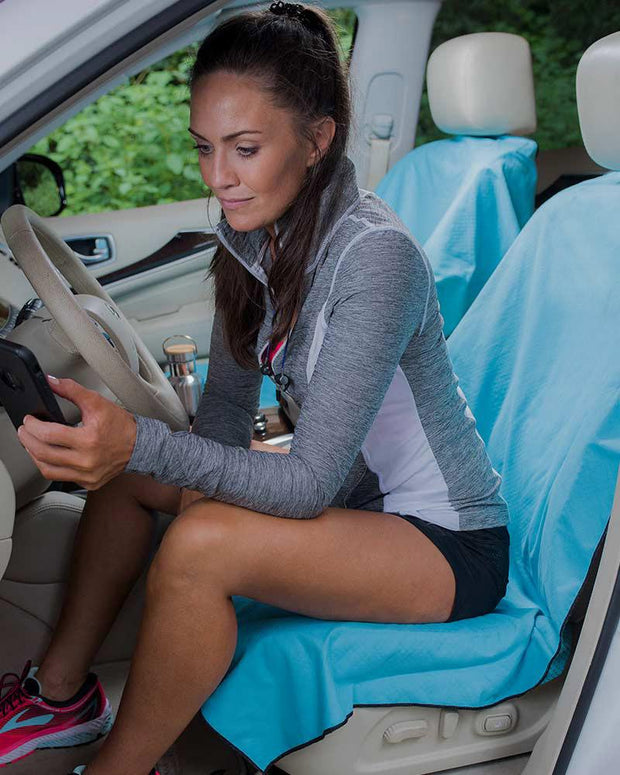 Run's Done | Towel Car Seat Cover