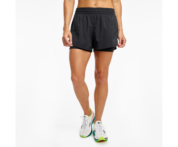 "Saucony | ReRun 4"" 2-1 Short 