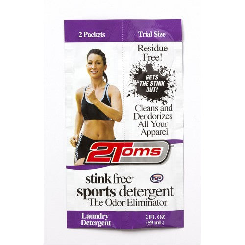 2Toms | Stink Free Sports Detergent | 2 oz Packet