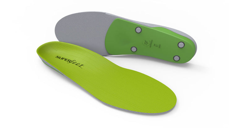 Superfeet | Green | High Arch | High Profile Inserts | Orthotics | Supportive Footwear Insoles |