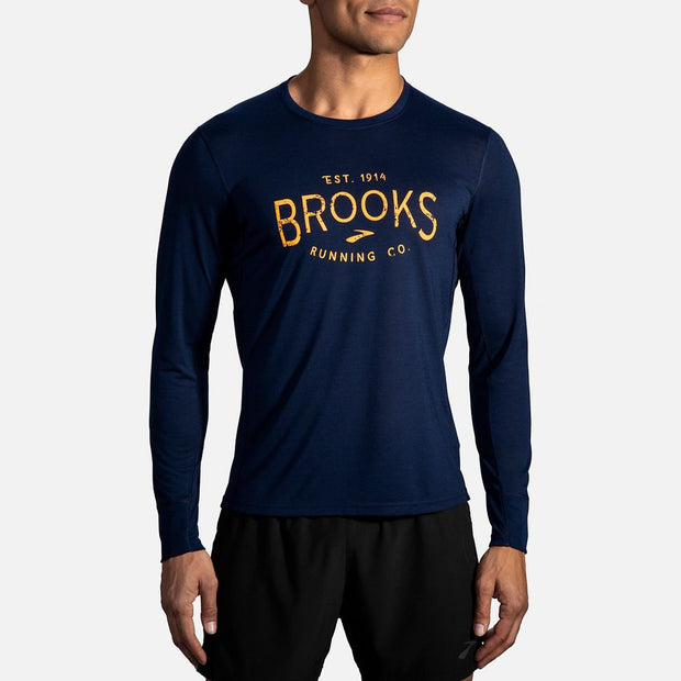 Brooks | Distance Graphic Long Sleeve | Men's