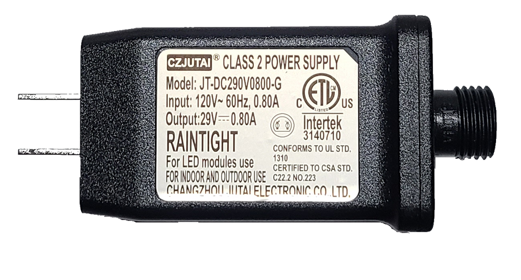 CZJUTAI 29 volt 0.80A Class 2 Power Supply JT-DC290V0800-G