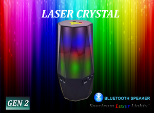 SL-15 Laser Crystal - LED Atmosphere Personal Bluetooth Speaker - Spectrum Laser Lights