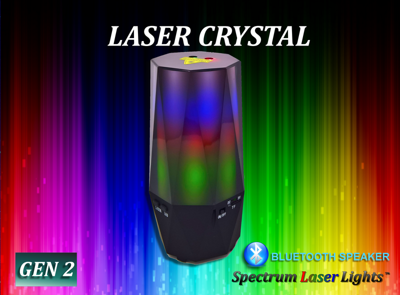 SL-17 Laser Crystal - LED Atmosphere Personal Bluetooth Speaker 16 Patterns