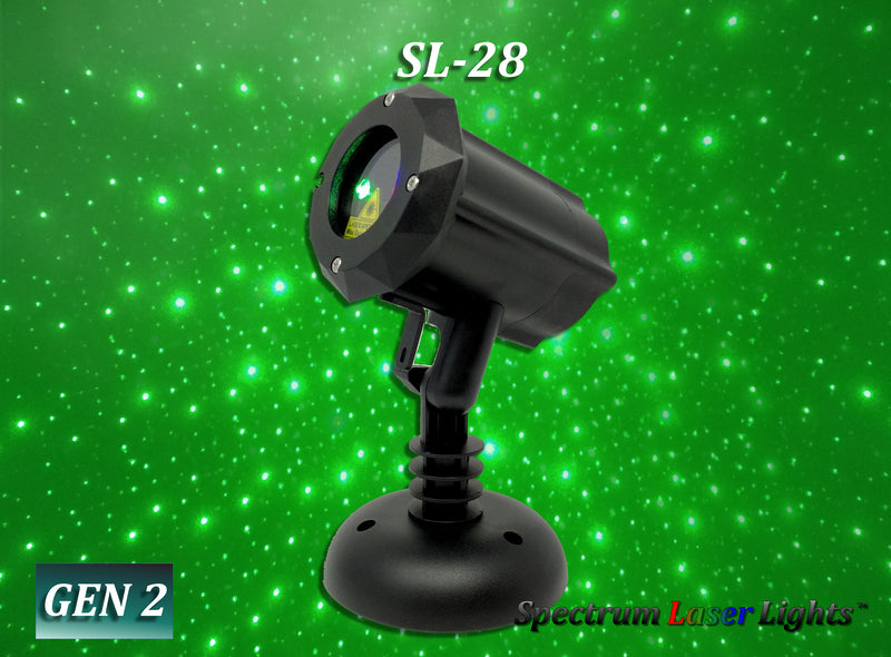 SL-28 Moving GREEN Firefly Laser Christmas Light