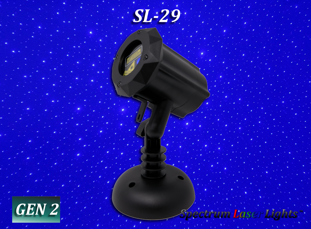 SL-29 Moving BLUE Firefly Laser Christmas Light