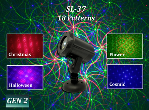SL-37 - RGB Moving 18 Pattern Laser Christmas Light -2nd GEN v2