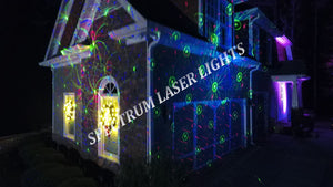 SL-37 - 3 PACK - RGB Moving 18 Pattern Laser Christmas Light -2nd GEN - Spectrum Laser Lights
