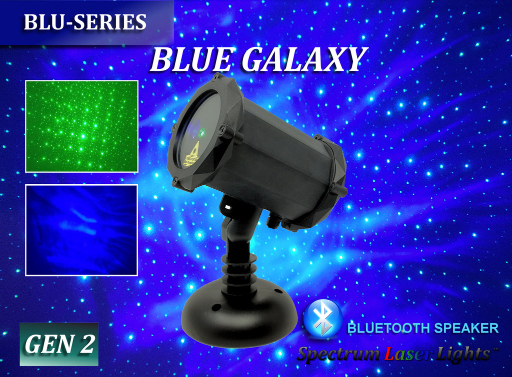 SL-43 Blue Galaxy | Green Laser Christmas Light with Bluetooth Speaker - 2nd GEN v2 - Spectrum Laser Lights