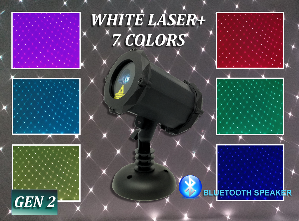 SL-47 White Laser Light - Full 7 Color Spectrum with Bluetooth Speaker - 2nd GEN v2