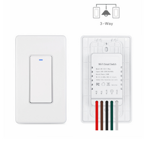 3 Way Smart Wi-Fi Light Switch, Individual 3 Way Switch(only one Needed),Compatible with Alexa Google Assistant & IFTTT, Remote Control, Timing Function No Hub Required, ETL Certified