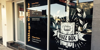 Come and touch a Buzz Box Guitar