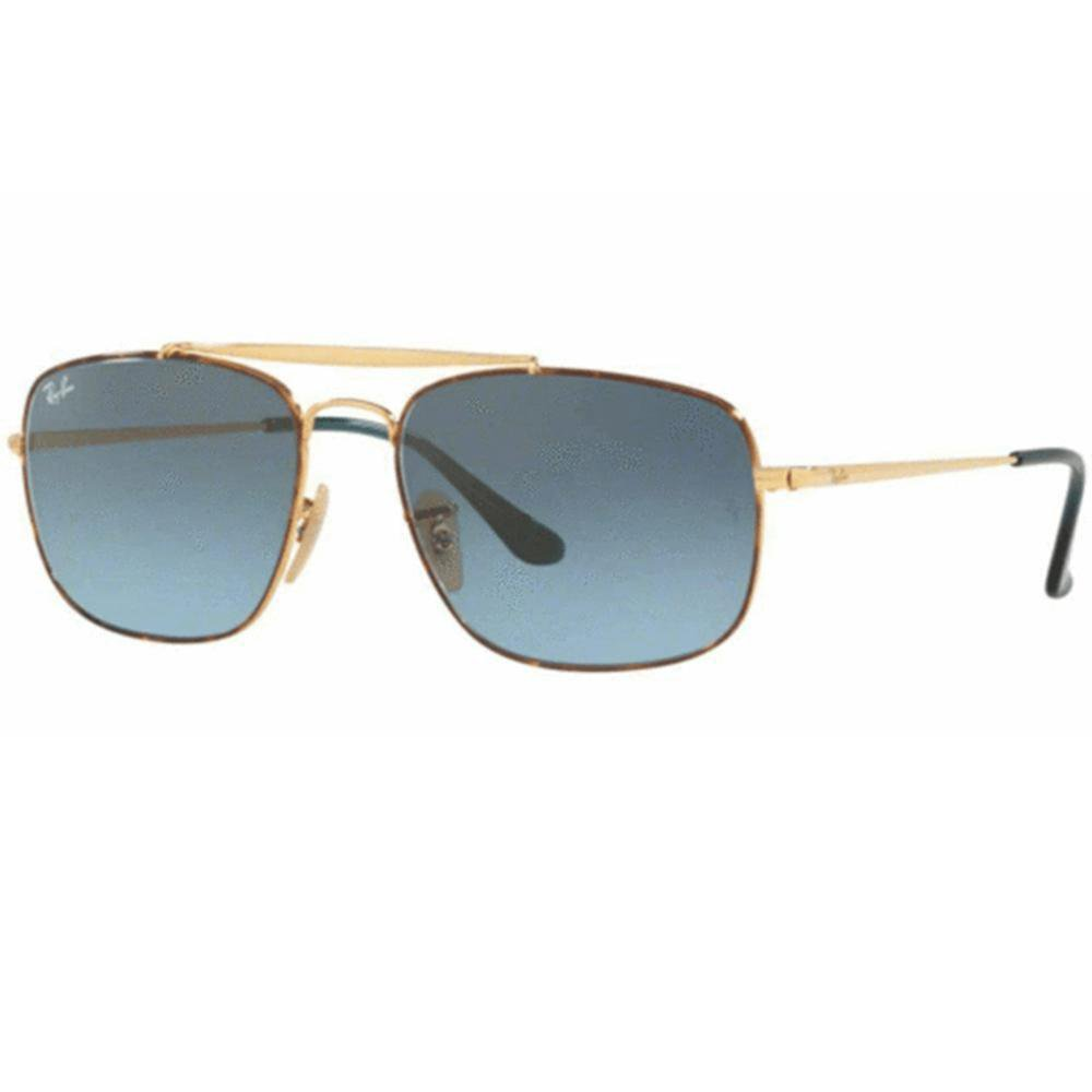 Ray Ban Sunglasses The Colonel Square Style Blue Grey Gradient Lens