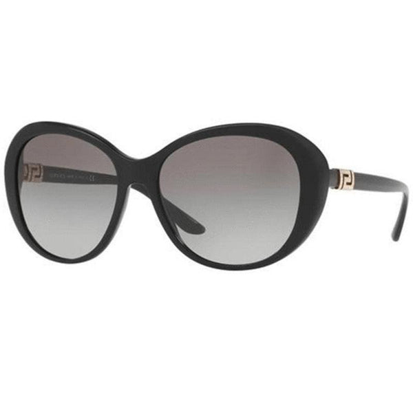 Versace Sunglasses Women Oval Frame with Grey Lens