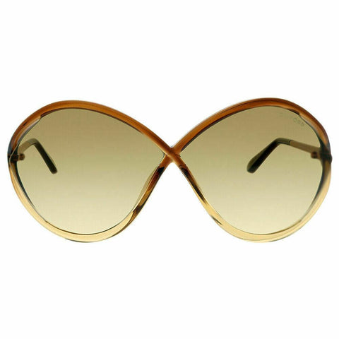 Tom Ford Liora  Sunglasses Oversize Style Brown Gradient Lens