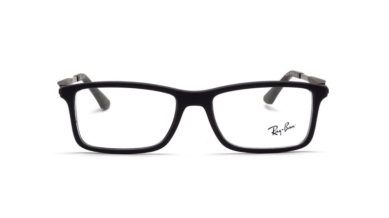 Ray Ban Matte Black Eyeglasses RX7023 2077 55mm Optical Frame