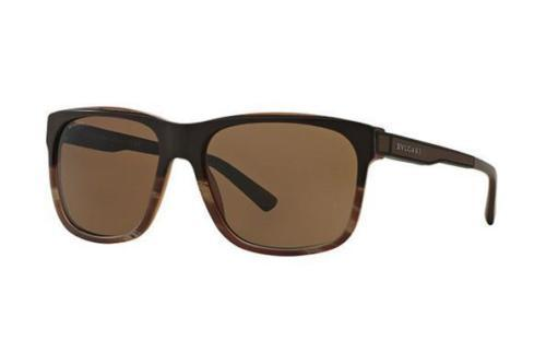 Bvlgari sunglass - square style Dark Brown Plastic Frame with Brown Lens - BV7024 535673 59MM