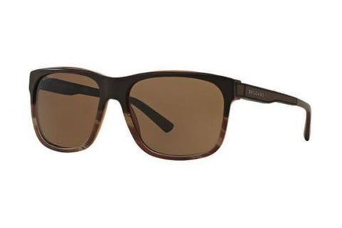 Bvlgari Sunglasses Square Frame Brown Lens 59 mm