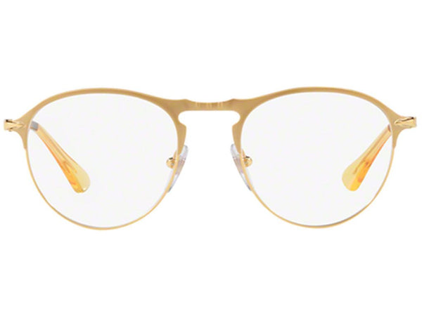 Persol Eyeglass PO7092V 1069 50mm Oval Style - 649 series Men's Eyeglass Matte Gold Frame