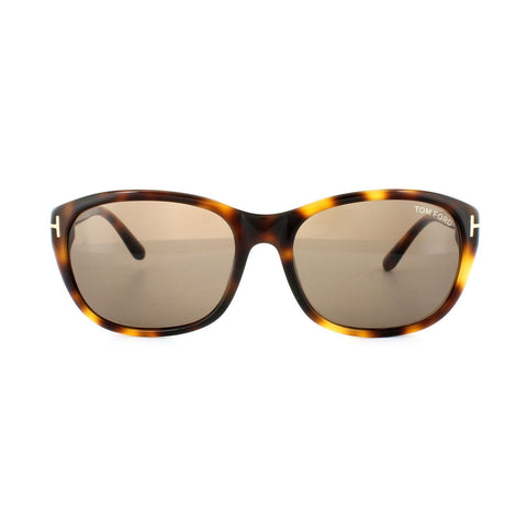 Tom Ford Sunglass Oval style - Light Havana Brown Lens TF0396 52J 60MM