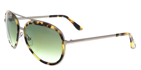 Tom Ford FT0468S 53P 58MM ANDY Brushed Silver/Tortoise Aviator Sunglasses