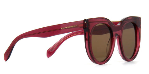 Alexander McQueen Sunglasses Round Style Brown Lens
