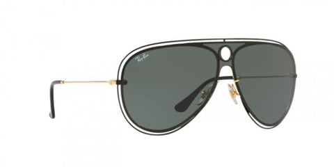 Ray Ban Pilot Style Sunglasses W/Green Classic Lens