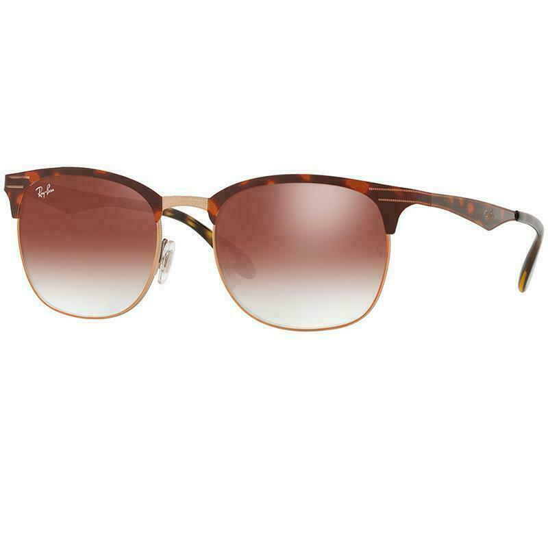 Ray-Ban Sunglasses Copper Havana w/Red Mirrored/Gradient Lens Unisex RB3538 9074