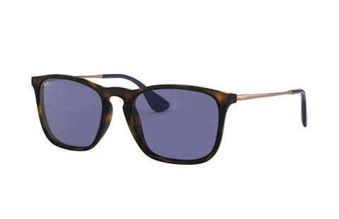 Ray Ban Square Style Sunglasses W/Blue Classic Lens