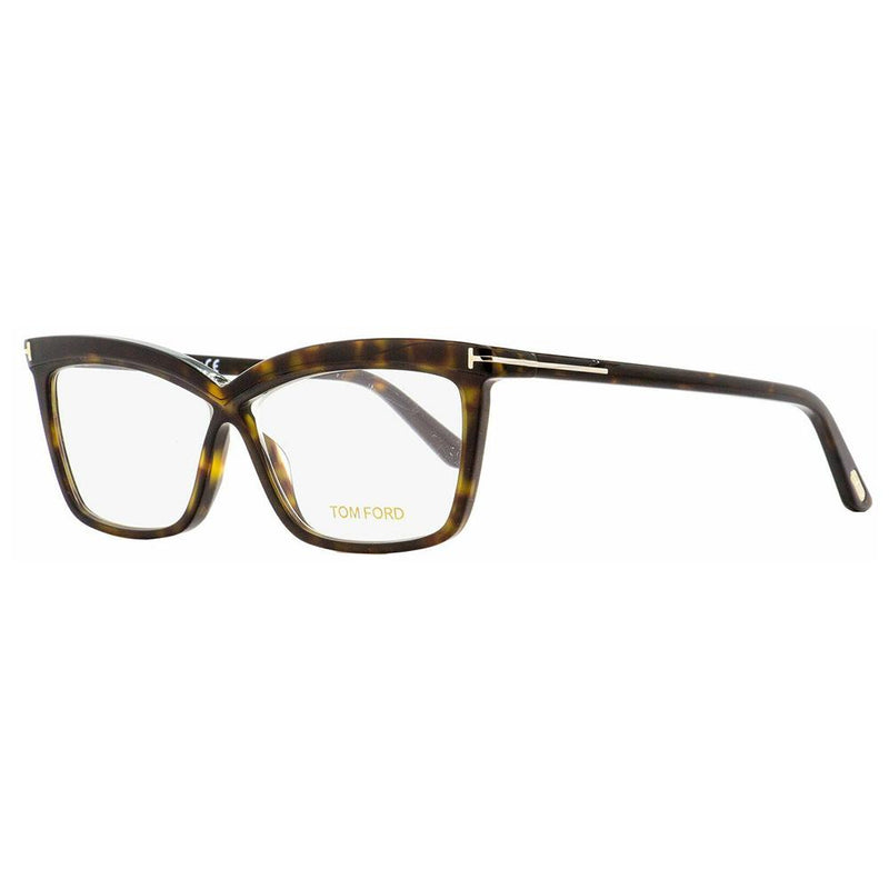 Tom Ford Butterfly Eyeglasses FT5470 052 55 Dark Havana 55mm FT5470