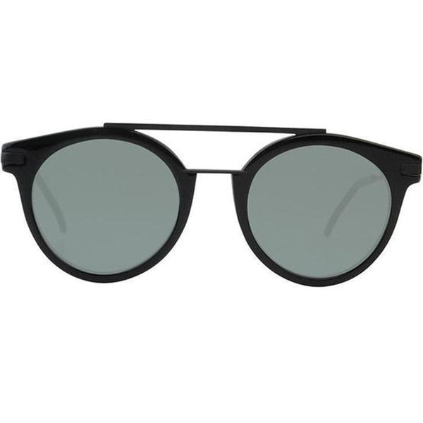 Fendi Sunglasses Round Frame Green Anti Reflective Lens - Front