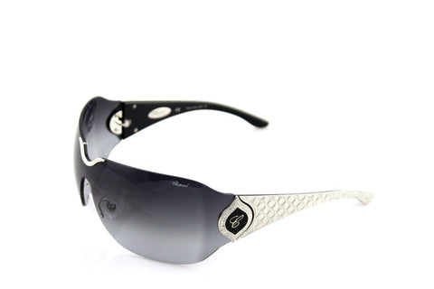 New Authentic CHOPARD Sunglasses 23 KT WHITE GOLD PLATED Grey SCH883S 0579