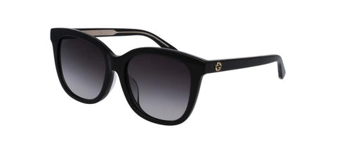 GUCCI Oversized Crystal Black Grey Mirrored Sunglasses GG0082SK 001 Women