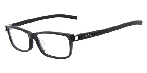 Tag Heuer Eyeglass Rectangular Style Black Frame with Customisable Lens - TH7604 007-52MM