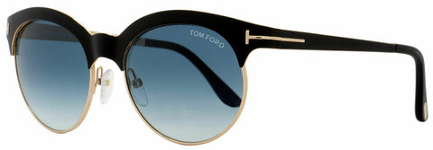 Tom Ford Sunglasses TF438 Angela 05P Black Green/Blue Gradient FT0438