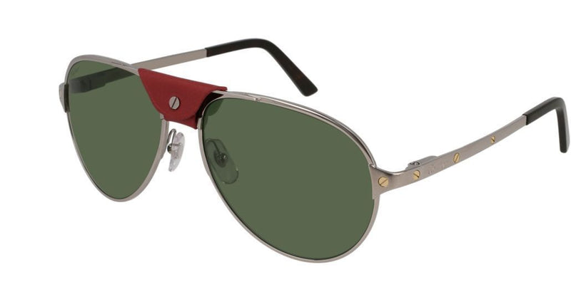 Cartier Sunglass CT0034S 006 61 Aviator Style | Ruthenium Color