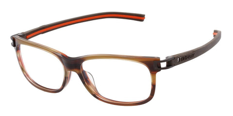 Tag Heuer Eyeglass Full Rim Rectangular Style with Demo Customisable Lens - TH7607 002 56MM