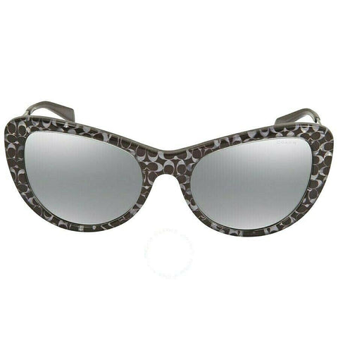 Coach HC 8247 (L1039) 55206G Gunmetal Sig C with Gunmetal Mirror Sunglasses 53mm