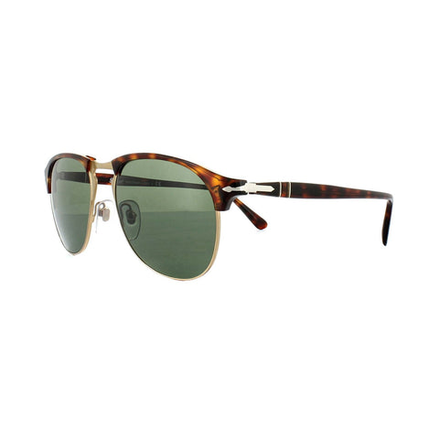 Persol Sunglasses PO8649 24/31 53MM Havana Frame  Crystal Green Lens