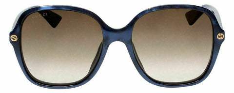Gucci Sunglasses Blue Crystal / Non Polarized Brown Gradient Lens GG0092S 005