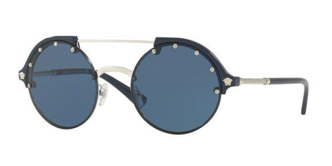 New Versace VE4337 525180 53MM Silver /Blue Frame, Blue Lens Size 53MM